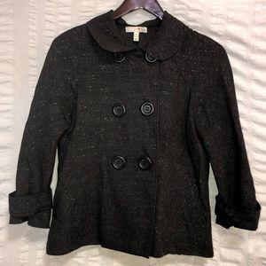 Joie Damask Black Jacket w/ Silver Threading